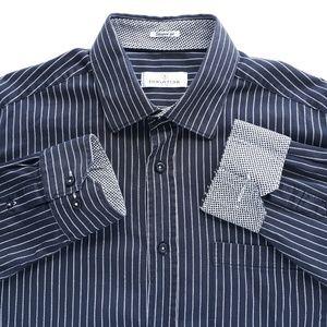 Bugatchi XL Shaped Fit Mens Black Shirt